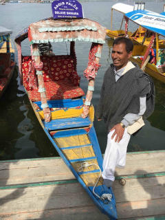 Shikara, the local water taxi in India