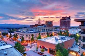 Asheville, NC, charming view of downtown