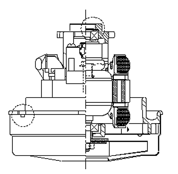 Tennant-Castex/Nobles Viper Ametek Vacuum Motor, 120 volt