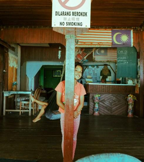 No Smoking girl in the Tioman Islands