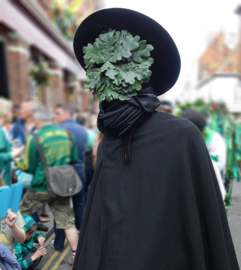 Oak man at the Jack in the Green Festival in Hastings (Peter Moore)
