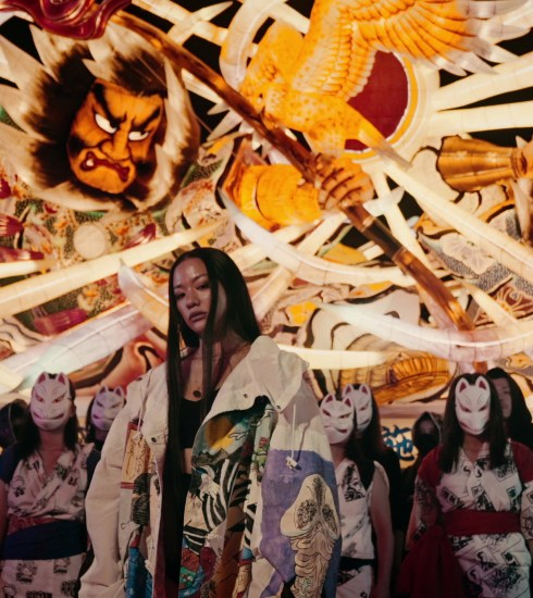 Awich in the music video for Nebuta