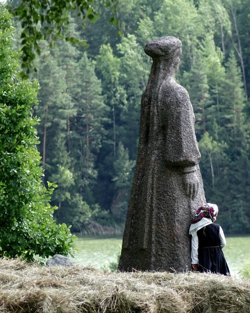 Seto woman by the lake (Visit Estonia)