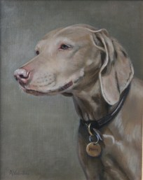 Pet portrait of a dog in Oils