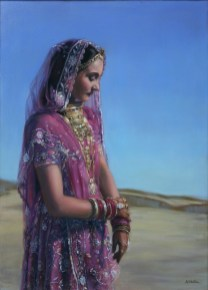 Contemplation, a Portrait in Oils by Annabelle Valentine