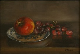 Grapple, a still life painting in oils by Annabelle Valentine