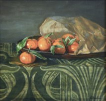 Oranges, a still life painting in oils by Annabelle Valentine
