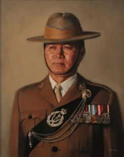Military Portrait in Oils for the Queen's Gurkha Signals 2016 by Annabelle Valentine
