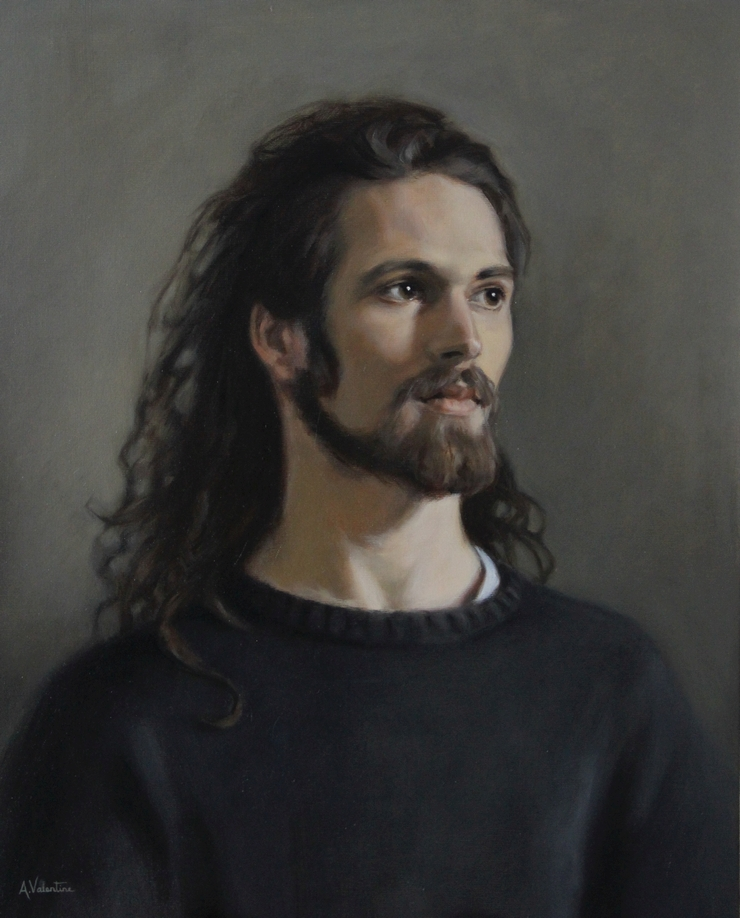 """Marius"" Portrait in Oils from a live sitting at The Sarum Studio"