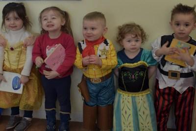 The Valley Nursery kids line up