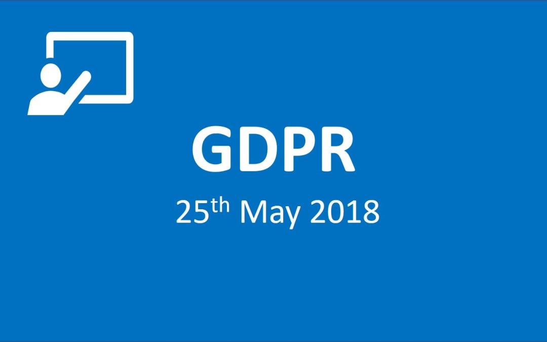 GDPR 25th of May 2018