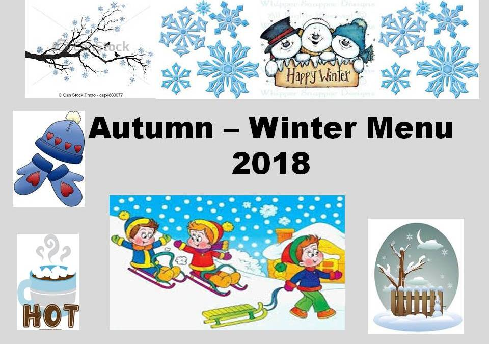 Autumn – Winter Menu 2018