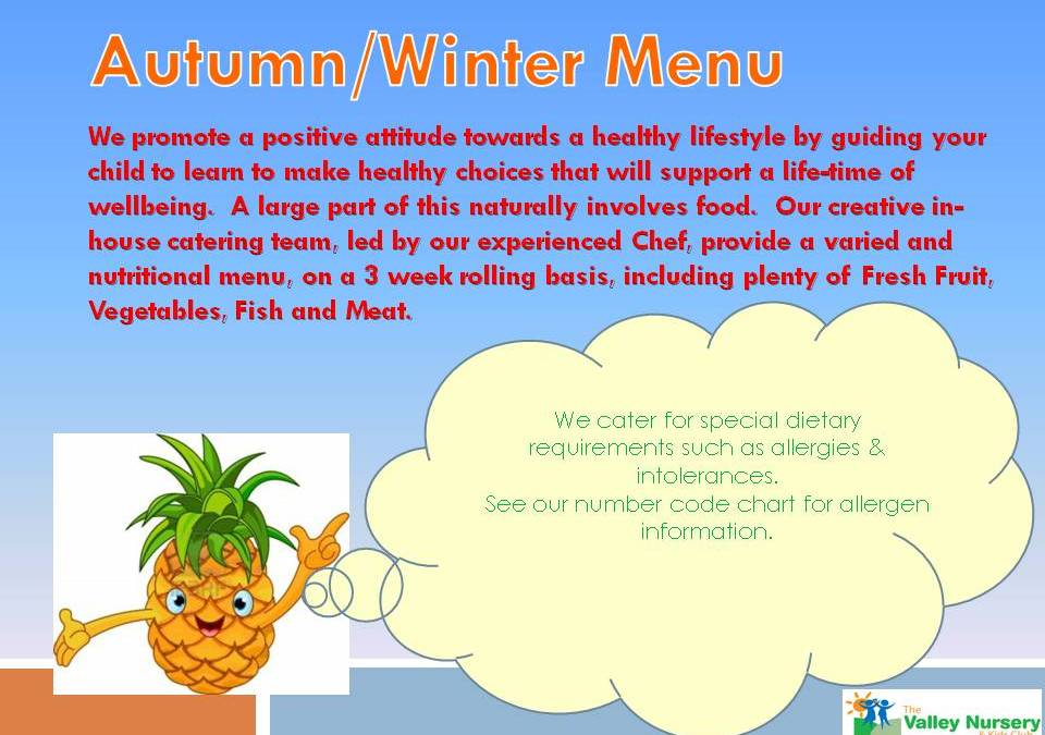 Autumn / Winter Menu 2021