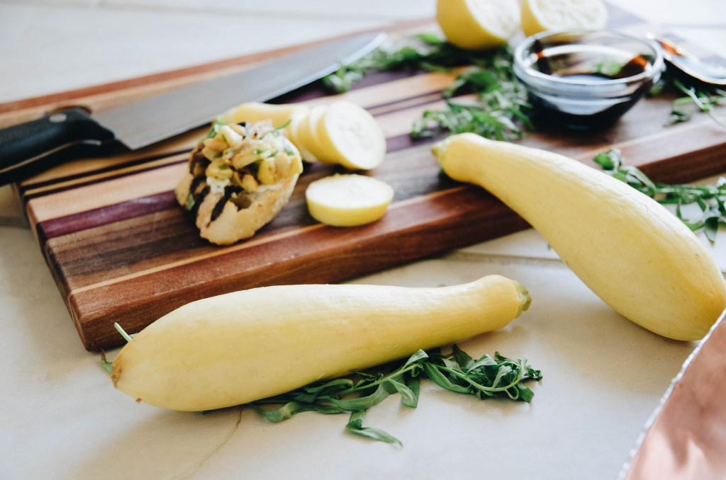 Easy Yellow Squash Bruschetta Recipe