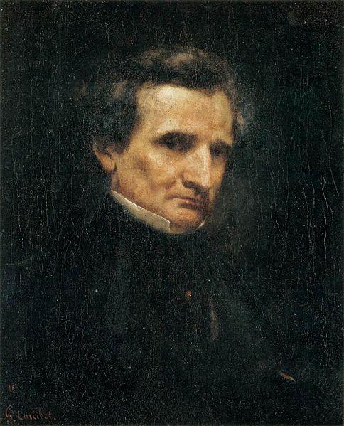Portrait of Berlioz by Courbet