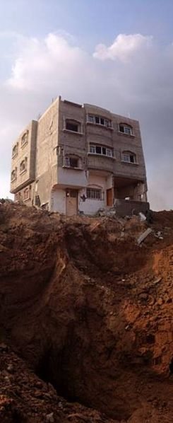Prime real estate for settlement...a Hamas terror tunnel in Gaza