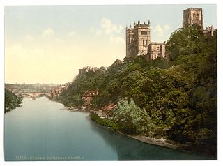 The_cathedral_and_castle_from_the_bridge,_Durham,_England-LCCN2002696728