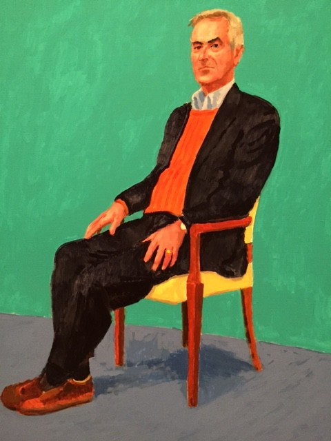 (Portrait of the author by David Hockney)