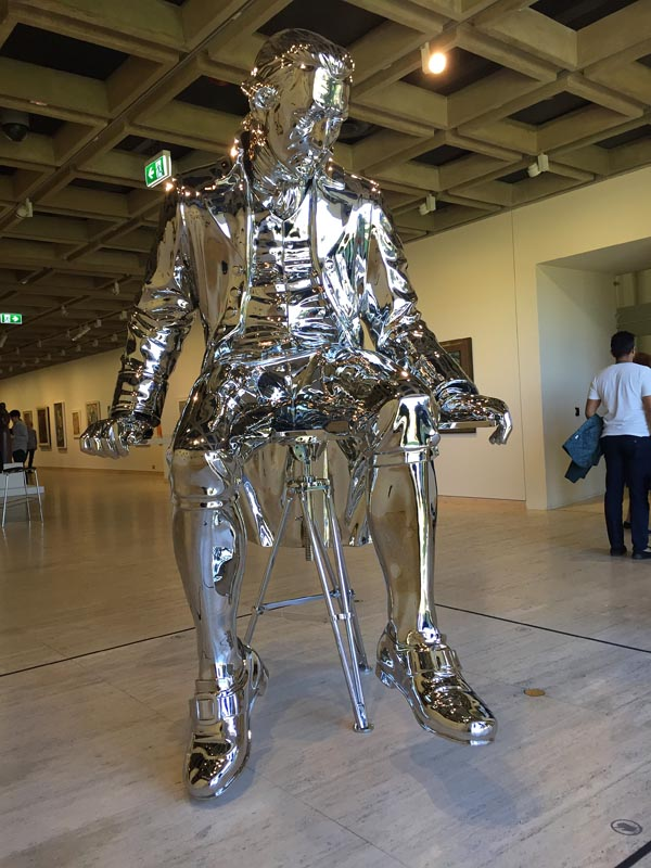TVC is still endeavouring to know what to make of this oversized, Jeff-Koons-style figure of the Capn., spotted recently at NSW Art Gallery