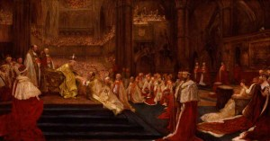 NPG 6058; The Homage-Giving: Westminster Abbey, 9th August, 1902 by John Henry Frederick Bacon