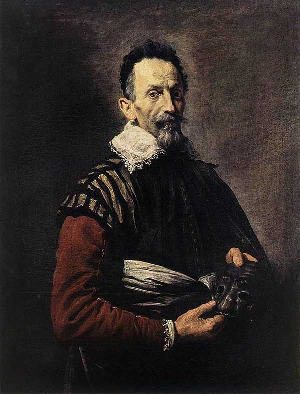 Portrait of an Actor by Domenico Fetti, c. 1620s (Hermitage)