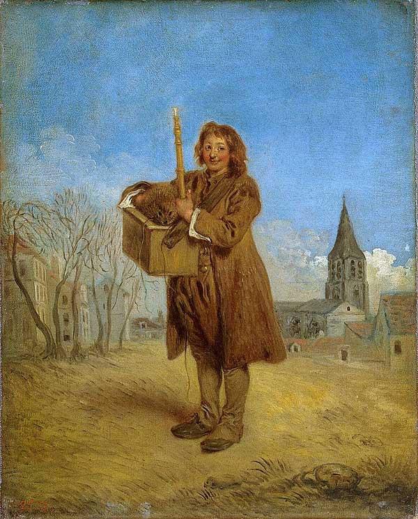 Antoine Watteau, Le Savoyard et la marmotte (1716) (Before van Gogh?)