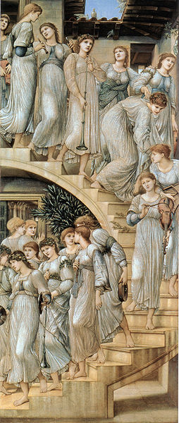 """Up or down?  """"The Golden Stairs"""" by Edward Burne-Jones"""