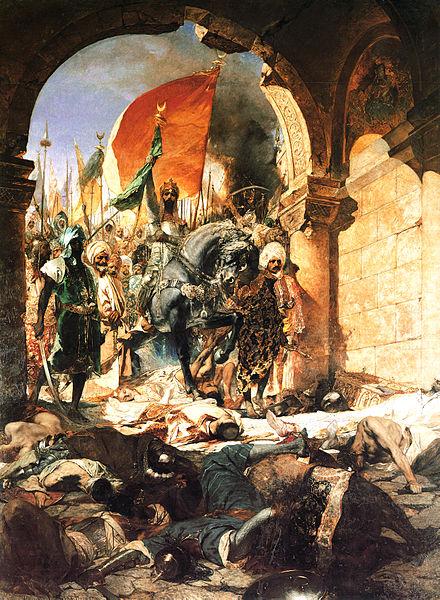 Entry of Mehmet II into Constantinople, May 1453 (by Jean Joseph Benjamin-Constant)