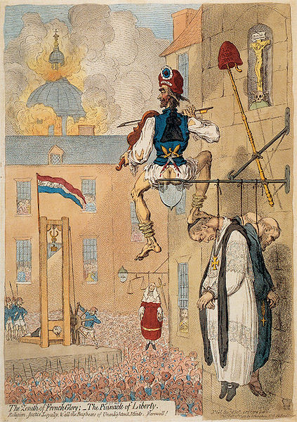 """""""The Zenith of French Glory..."""" by James Gillray"""