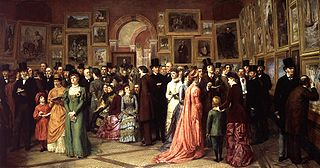 "William Powell Frith, ""A Private View at the Royal Academy"" (1883)"