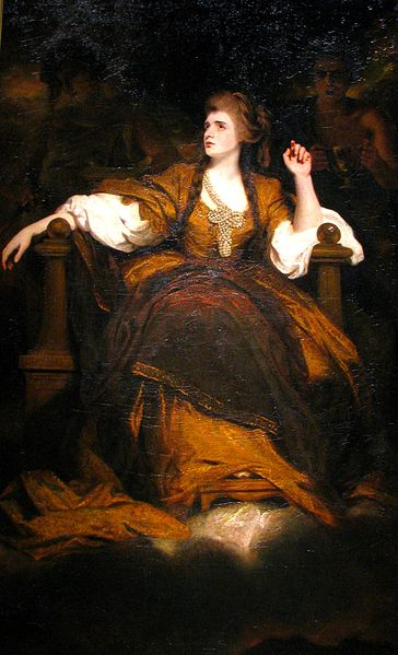 Mrs Siddons as the Tragic Muse by Joshua Reynolds