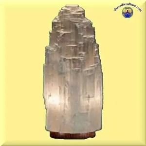 Selenite lamp for healing