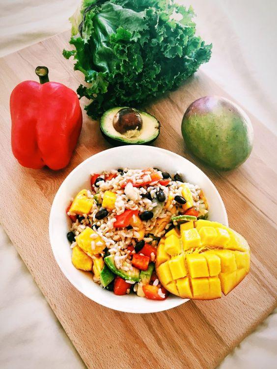 Vegan Avocado Mango Rice Bowl  | The Vegan Abroad