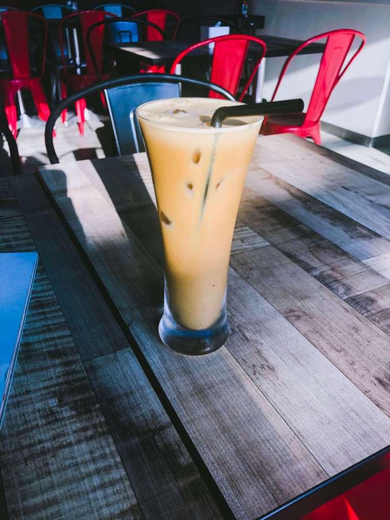 Vegan iced latte from Smoocht
