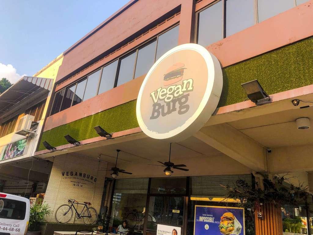 Front on VeganBurg restaurant   Vegan in Singapore