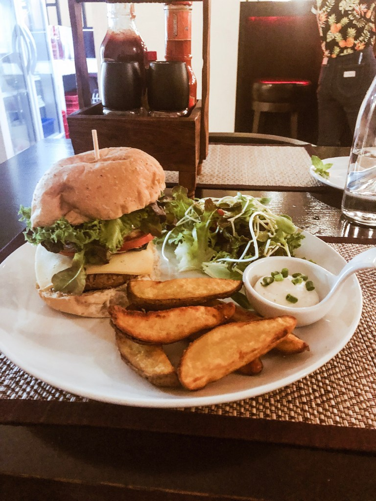 Burger at Goodsouls Kitchen -The Ultimate Guide to Vegan Restaurants in Chiang Mai, Thailand | The Vegan Abroad