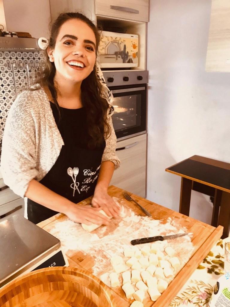 Making vegan gnocchi