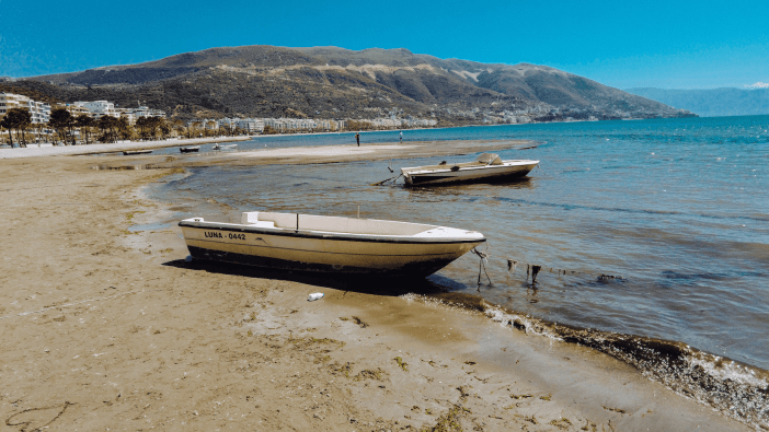 boats in vlore, albania