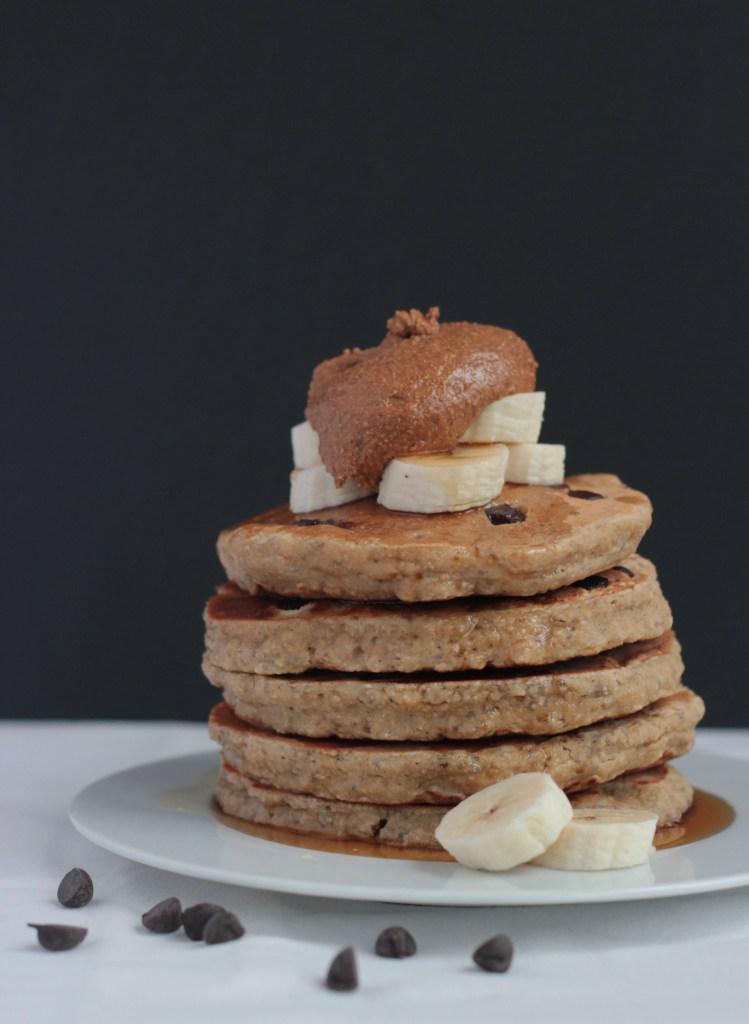 Chia Seed Banana Pancakes, Gluten Free & Vegan