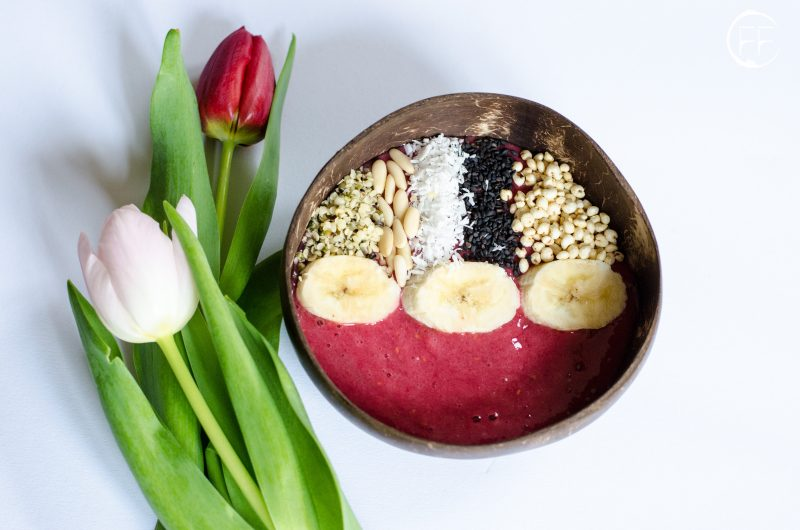 Smoothie bowl ai lamponi