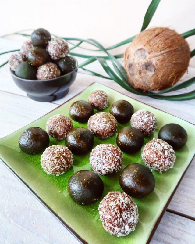 Palline al cioccolato e tè verde matcha
