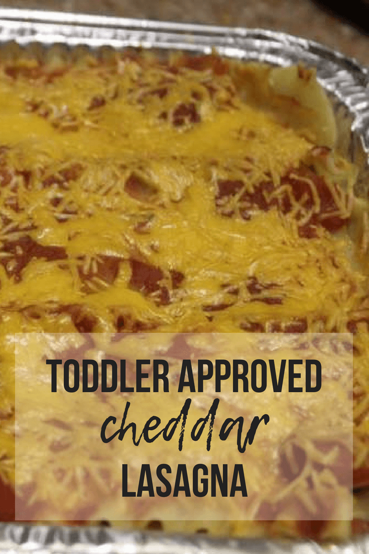 Toddler Approved Cheddar Lasagna | www.thevegasmom.com