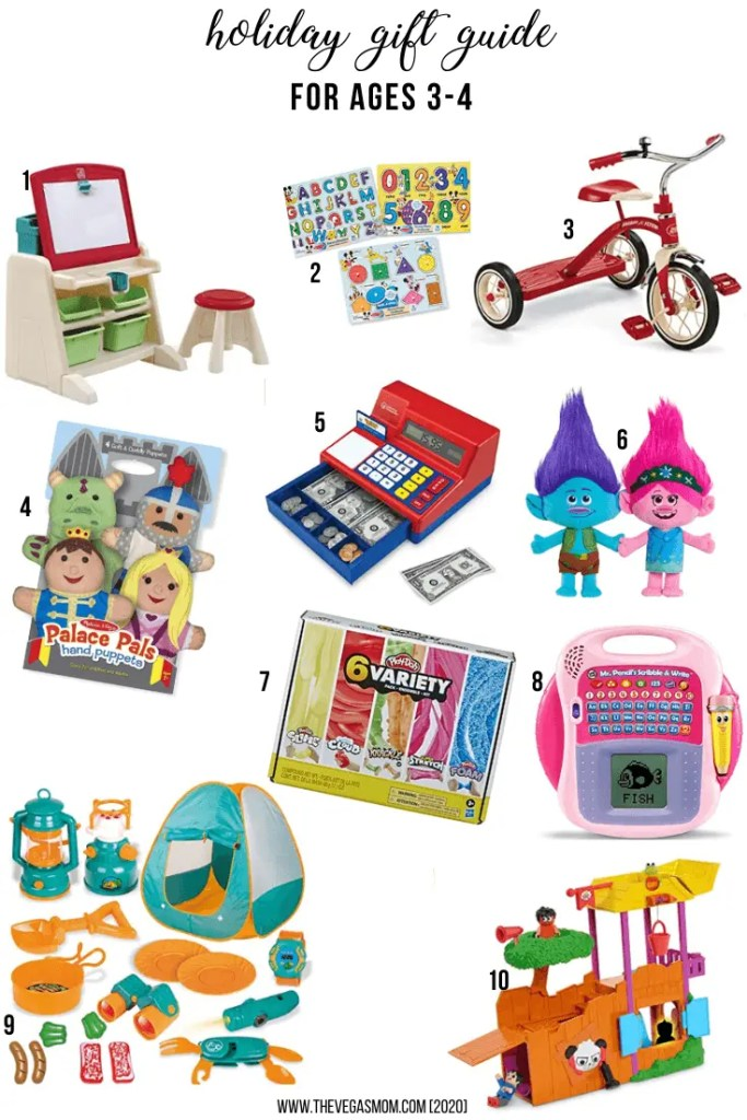2020 Holiday Gift Guide for 3-4 Year Olds | www.thevegasmom.com