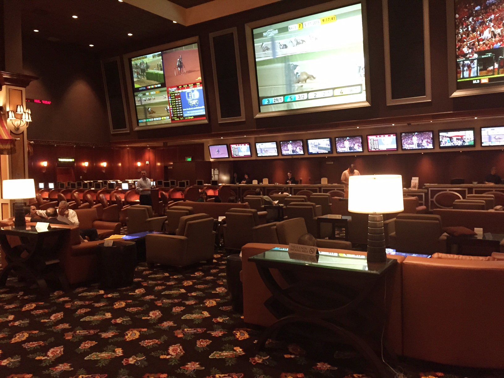 Vegas Sports Book News  Bellagios Lounge Set Up  The