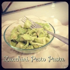 Raw Zucchini Pasta with Avocado Pesto