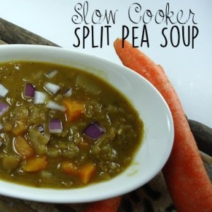 Slow Cooker Split Pea Soup {vegan, gluten-free}
