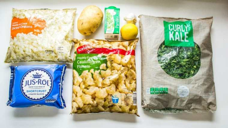 Kale Pesto & Cauliflower Picnic PIes Ingredients