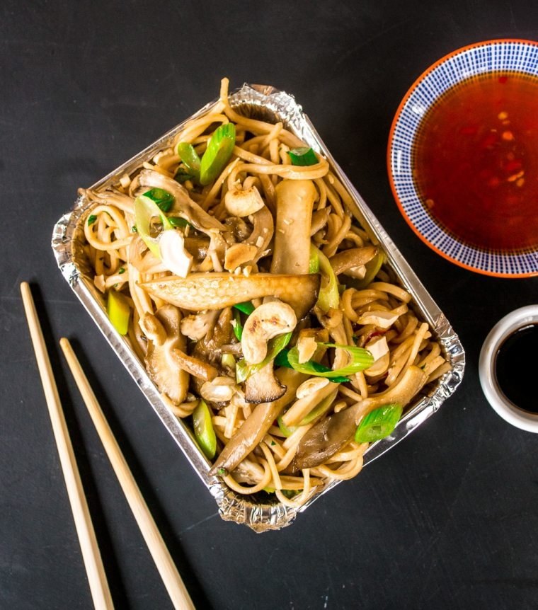 Exotic Mushroom & Cashew Sweet Chilli Noodles