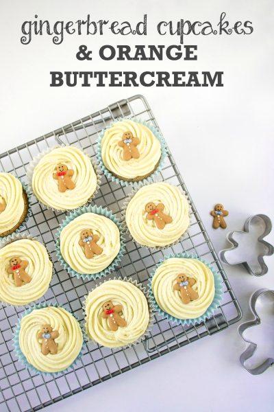 Recipe: Gingerbread Cupcakes with Orange Buttercream (Vegan)