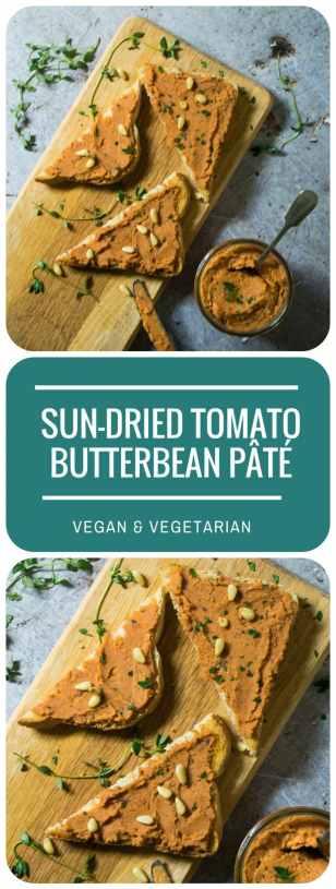 Sun-dried Tomato Butterbean Pate (Vegan)